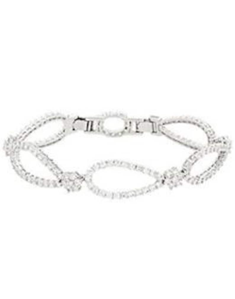 Jackie Kennedy Monte Carlo Bracelet  Silver with Stones  80 image 0