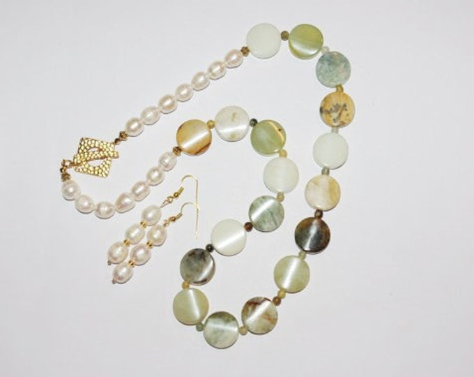 Jade Beaded Necklace SET - Natural Gemstones - S183