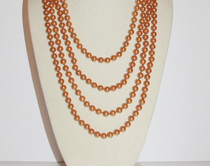 Joan Rivers Long Pearl Necklace - 100 Inches, Toffee Color - S1048