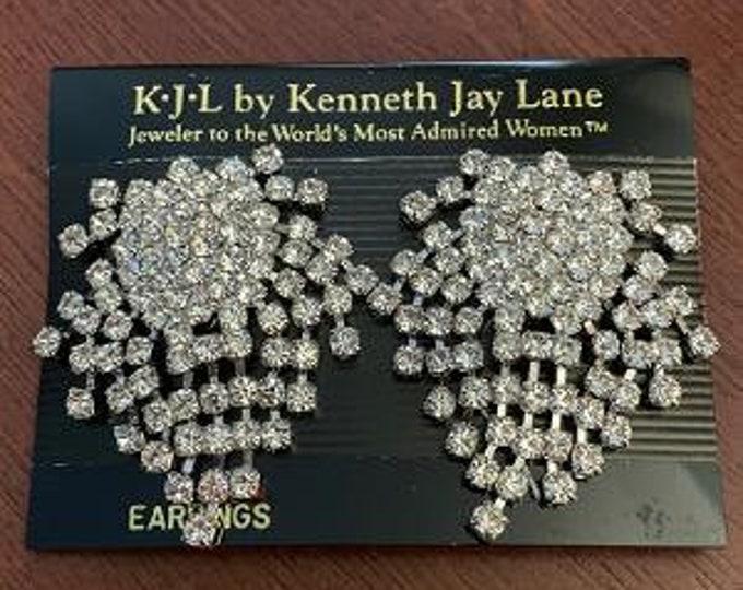 Kenneth Jay Lane Crystal Earrings Clip-on - S3248