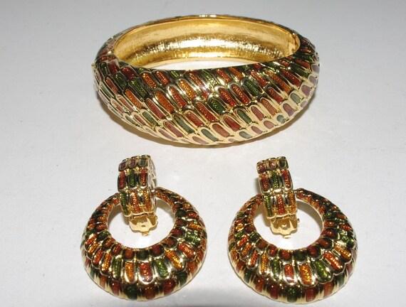 Joan Rivers Jewelry Set, Bracelet and Clip On Earr