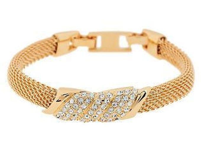 Jackie Kennedy Tanzanite Bracelet - Gold Mesh - 421