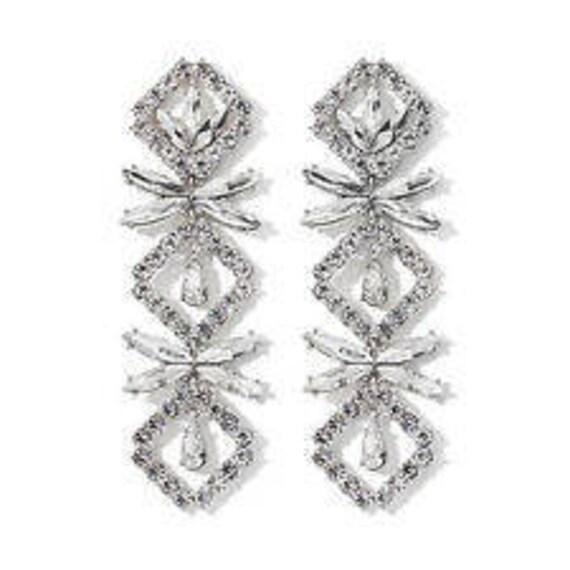 Audrey Hepburn Crystal Earrings, Wear Long or Shor