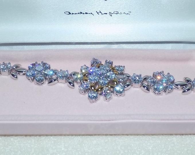 Audrey Hepburn Bracelet -  Crystal Snowflake - Size 7 to 8