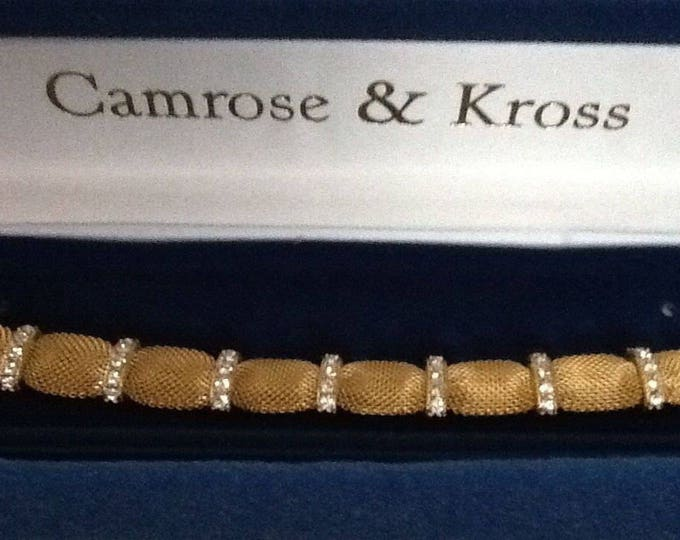 Jackie Kennedy Mesh Bracelet with Crystals - Size 7 or 8 - 347