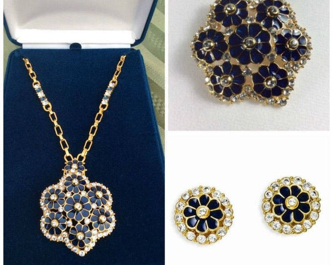 Jackie Kennedy  Jewelry Set - Grand Tour Pin Pendant Necklace & Earrings