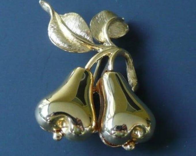 Joan Rivers Gold Pear Pin - S2325