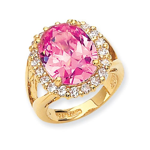 Jackie Kennedy Pink Kunzite Ring Size 8 with Certificate