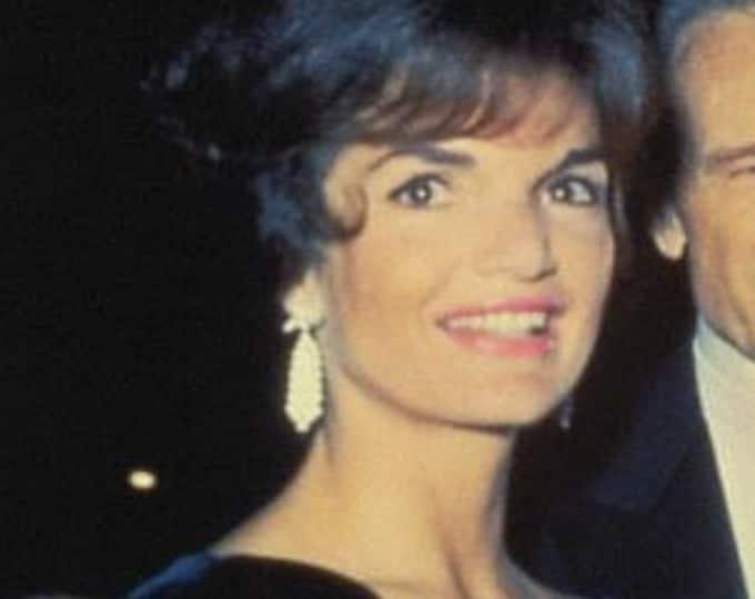 Jackie Kennedy Waterfall Earrings - JBK Famous Dangle Earrings in Silver  - H25