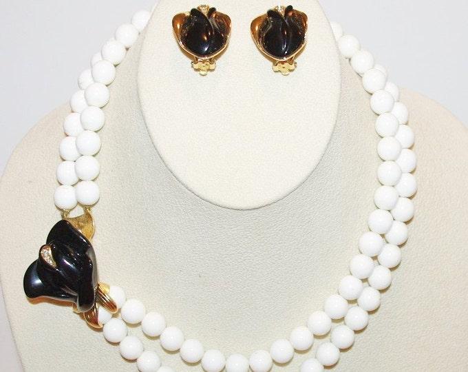 Kenneth Lane Jewelry SET - Midnight Rose - S1216