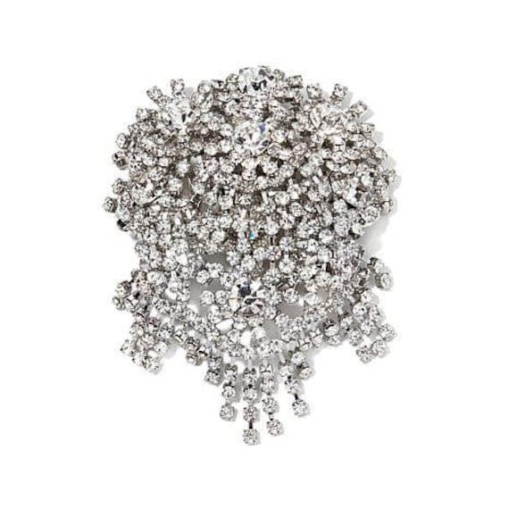 Audrey Hepburn Pin Pendant, Large Crystal Brooch