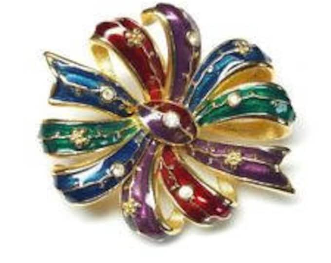 Joan Rivers Bow Pin - Multi Color - S2180