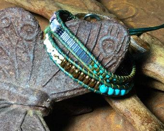 Double wrapped, Bohemian infinity bracelet