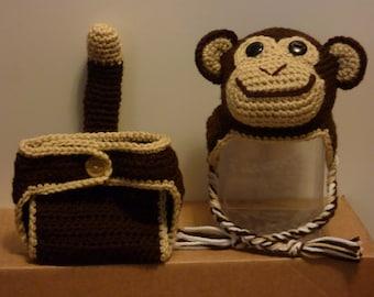 Baby Monkey Costume and Photo Prop