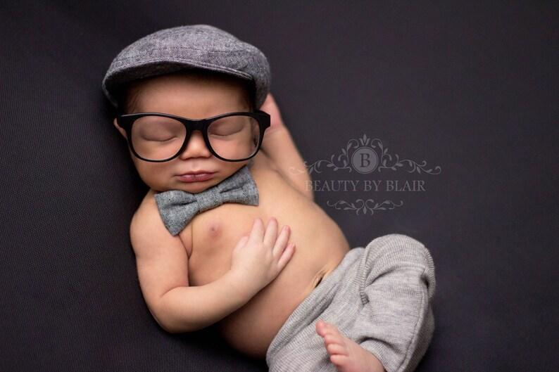 Newborn baby hat and bow tie baby boy newborn hat boy baby  5bba4c56e6f