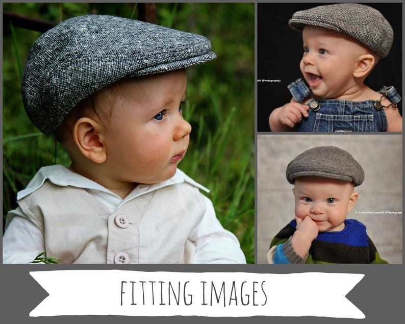 35a0f6e1ef418 Winter hats for boy black tweed hat for baby wool newsboy