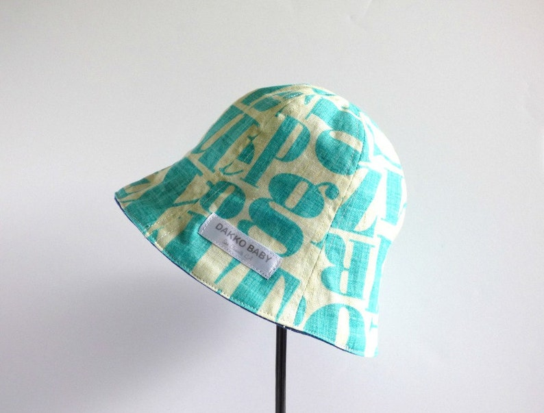 d25831c16b918 Baby boy summer hat abc letter alphabet print toddler boy sun