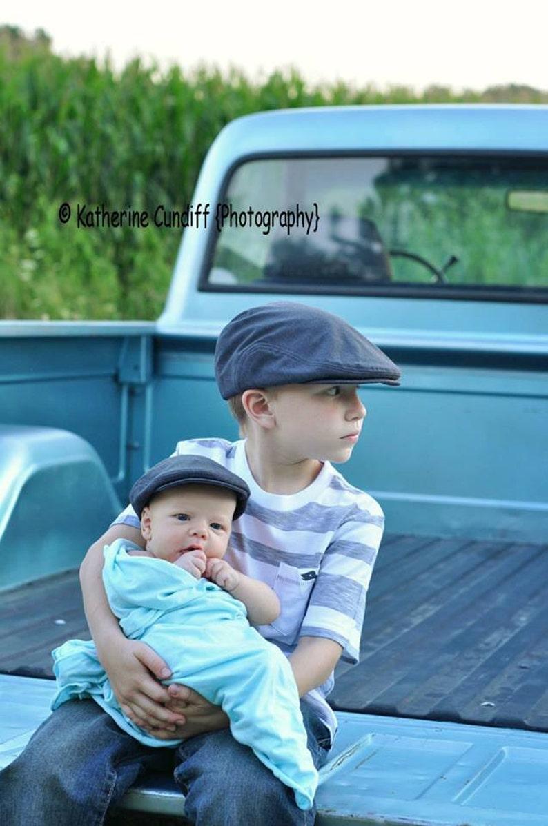Kids Newsboy hat boys newsboy hat kids charcoal gray flat  3b5f195277d