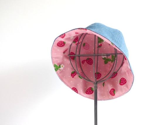 Strawberry sun hat for baby and toddler girls cute  2aed4f0aa0b5
