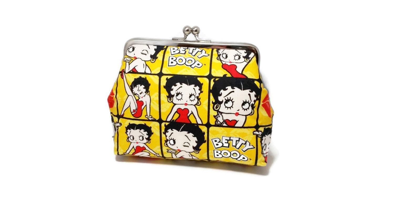Betty Boop Print clutch purse rockabilly pin up 1950s makeup | Etsy