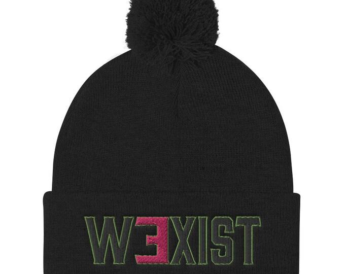 WEXIST Logo Pom Pom Knit Cap