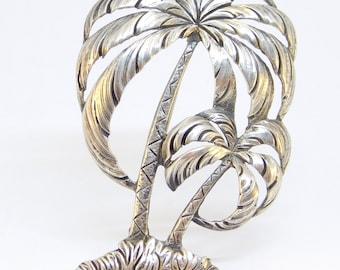 Vintage Sterling Danecraft Palm Tree Brooch Hawaii