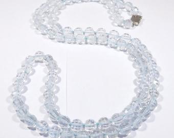 Fancy Faceted Natural Quartz Deco Beads Necklace