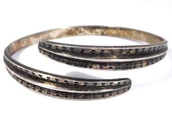 David Andersen Norway Sterling Bypass Bangle Bracelet