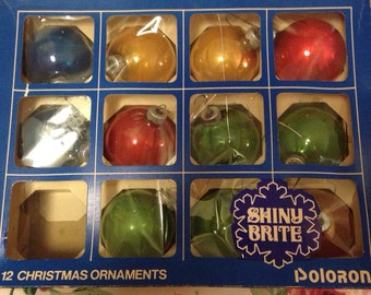 2 Boxes of Shiny Brite Christmas Ornaments made by Poloron