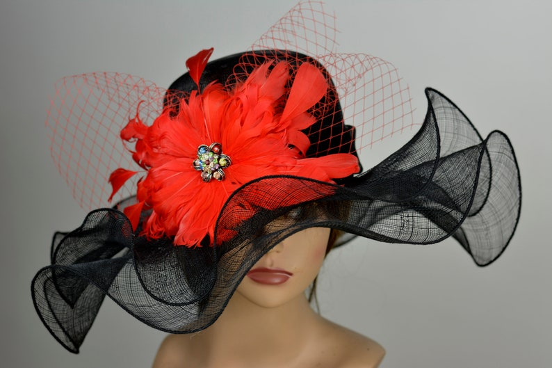 Sinamay Straw Church Wedding Hat Head Piece Kentucky Derby Hat Bridal Coctail Hat Couture Fascinator  Bridal Hat