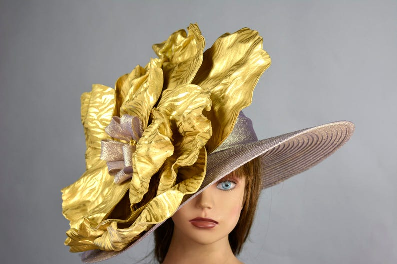 6e35bb6d349be Rose Gold Wedding Hat Woman Hat Formal Hat Tea Party Church