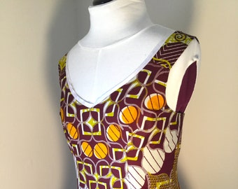 African Geometric Print Sundress - US Size 8