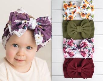 Newborn Headbands Autumn Burlap Headband Baby Headbands Toddler Headbands Fall Headbands Orange Headbands Infant Headbands