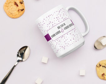 Crystal Mug, Rustic Boheme, Coffee Cup, Coffee Mug, Quote Mug,  White Glossy Mug, Birthday Gift