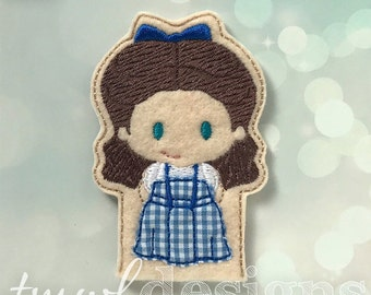 Dorothy Finger Puppet Toy Digital Design File