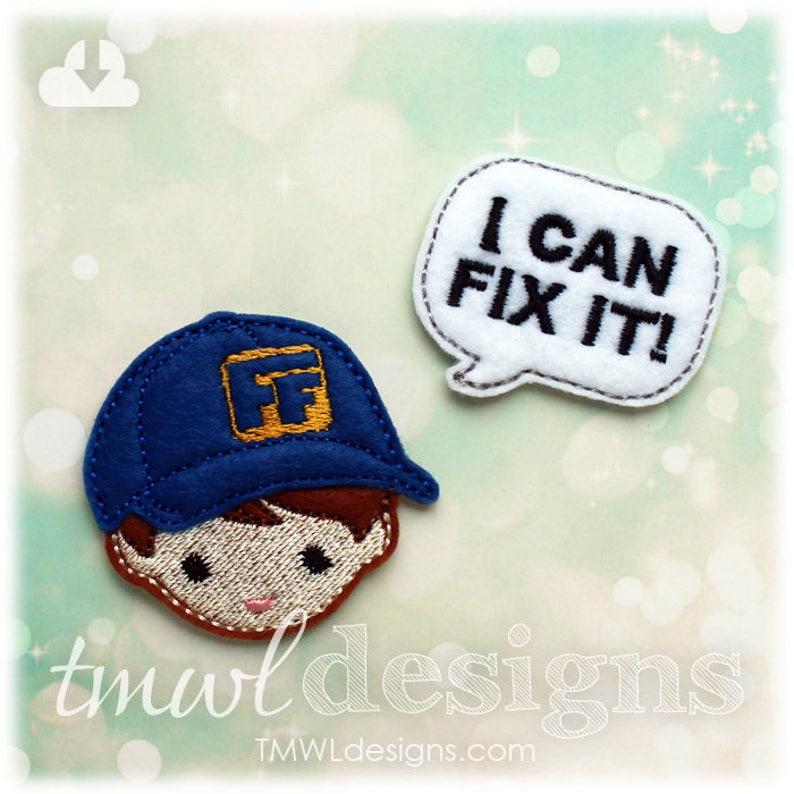 1.75 Fix It Talk Bubble Feltie Digital Design File
