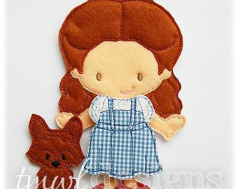 Dorothy Dress Felt Paper Doll Toy Outfit - 5x7