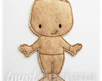 Scarecrow Felt Paper Doll Toy Digital Design File - 5x7