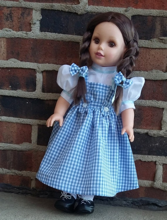 Wizard of Oz Dorothy inspired Child Costume Dress Toddler Size 1-8 years old