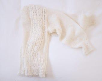 Ivory Knit Cardigan // 70's 80's 90's fashion. Cozy. Knits. Bohemian.