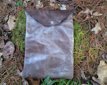Recycled Leather Laptop/Ipad Case