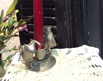 Vintage Mice Candle Holder
