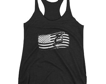 Tumble Gymnastics American Flag Leotard Star Tank Top