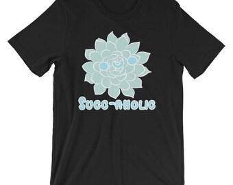 Cute Succ-aholic Succulent Cacti Loving Gardener Shirt