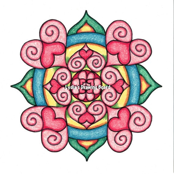 Note Cards, Notecards, Blank Cards, Birthday Card, Love Cards, Cards, Mandala Art, Small Art, Mandala Print, Valentine, Valentine Card, Love