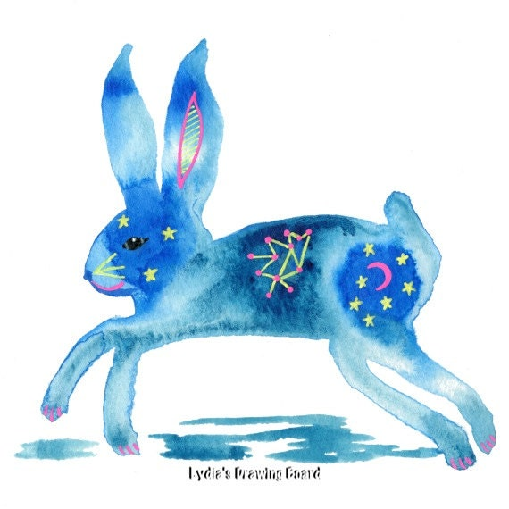 Rabbit, Note Cards, Notecards, Blank Cards, Birthday Card, Rabbit Card, Bunny Art, Spirit Animal, Bunny Rabbit, Mystical Art, Small Art