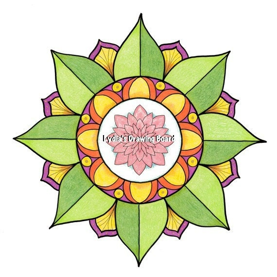 Note Cards, Notecards, Blank Cards, Birthday Card, Cards, Floral Card, Mandala Art, Small Art, Mandala Print, Lotus, Lotus Flower, Mandala