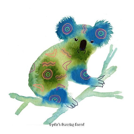 Note Cards, Notecards, Blank Cards, Birthday Card, Koala Bear, Koala Art, Spirit Animal, Cards, Animal Cards, Mystical Art, Small Art