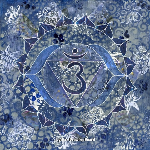 Third Eye Chakra, Mandala, Yoga Studio Decor, Kundalini Yoga, Chakra, Meditation, Yoga Artwork, Sacred Geometry, Wall Art Decor, Art Prints