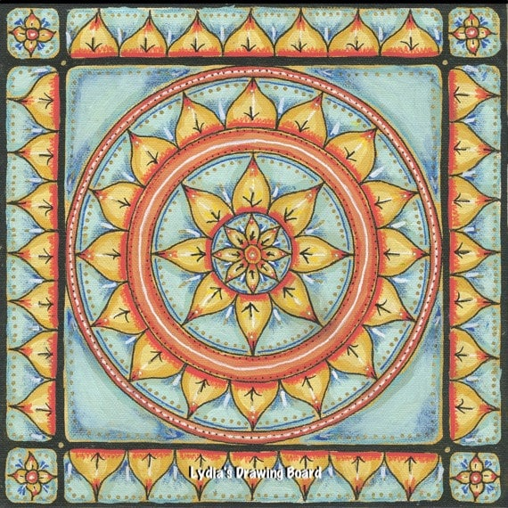 Mandala Art, Mandala Wall Art, Mandala, Original Painting, Meditation Art, Yoga Studio Decor, Ornate, Mixed Media Art, Sacred Geometry Art